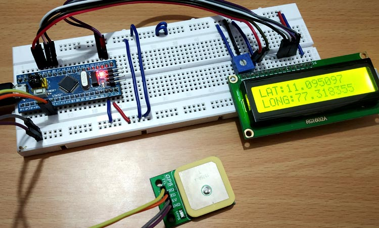 Interfacing GPS module with STM32F103C8 to get Location Coordinates