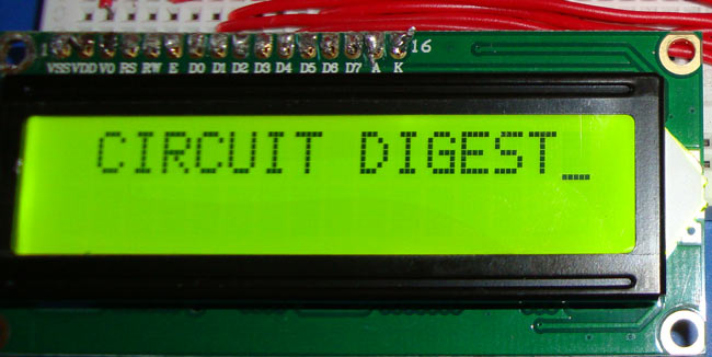 Lcd Circuit Diagram | Lcd Interfacing With 8051 Microcontroller 89s52 Tutorial With