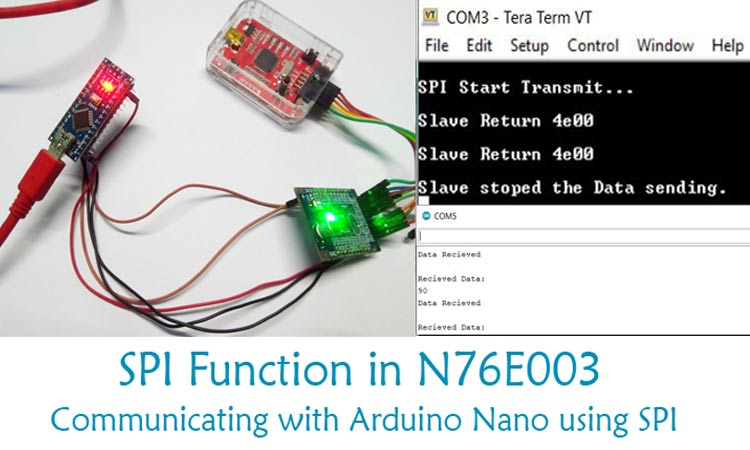 Interfacing Nuvoton with Arduino Through SPI