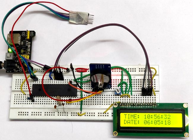 Interfacing RTC Module (DS3231) with PIC micro-controller: Showing Time and Date