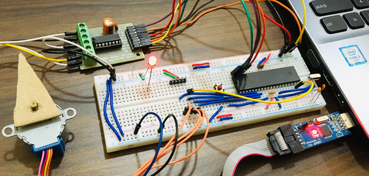 Interfacing Stepper Motor with AVR Microcontroller Atmega16 using ULN2003