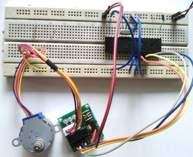 Interfacing Stepper Motor with PIC Microcontroller (PIC16F877A)