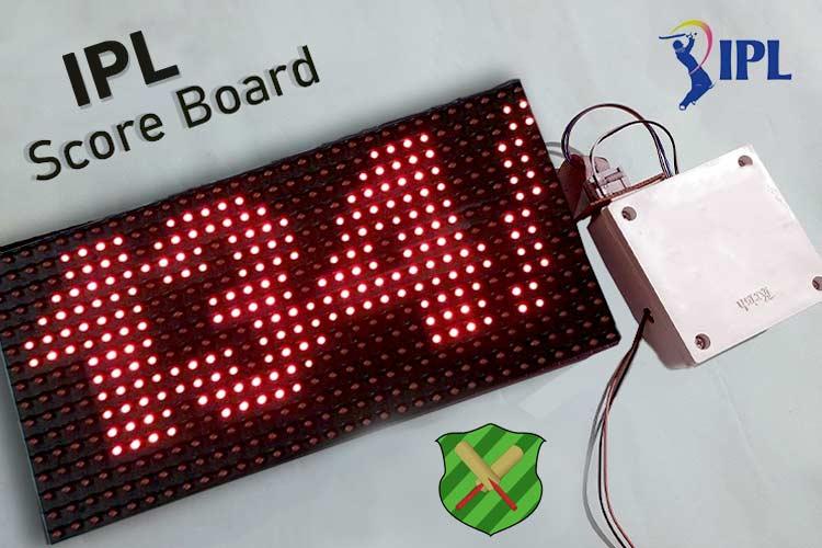 IoT Based IPL Scoreboard using Arduino
