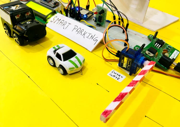 IoT based Smart Parking System using ESP8266 NodeMCU