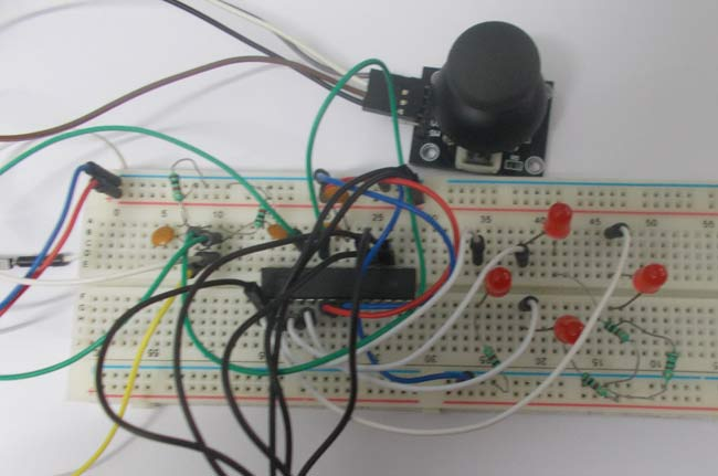 Joystick interfacing with avr microcontorller atmega8 joystick interfacing with avr microcontroller sciox Image collections