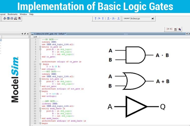 Implementation of Basic Logic Gates using VHDL in ModelSim