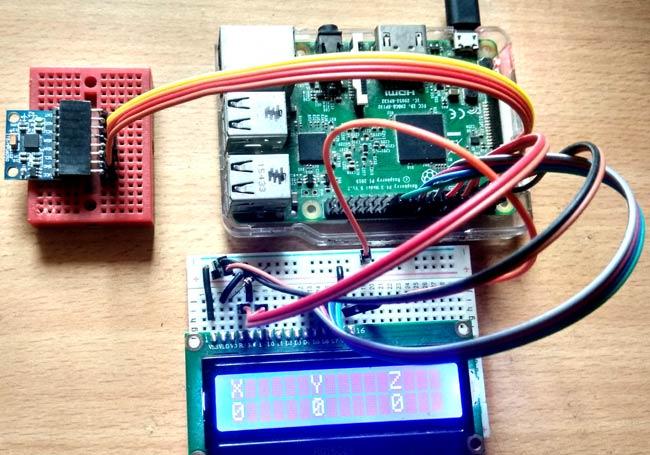 MPU6050 Gyro Sensor Interfacing with Raspberry Pi