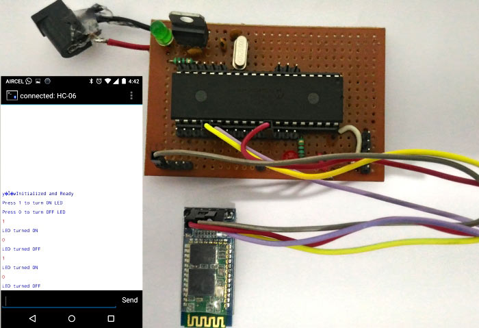 Smart Phone Controlled LED using Bluetooth and PIC Microcontroller