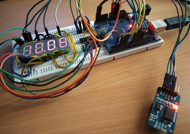 Arduino 7 Segment Display Clock Project by Multiplexing Four ... on