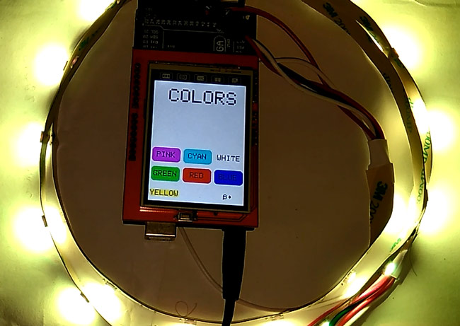 How to Use Neopixel RGB LED Strip with Arduino and TFT LCD
