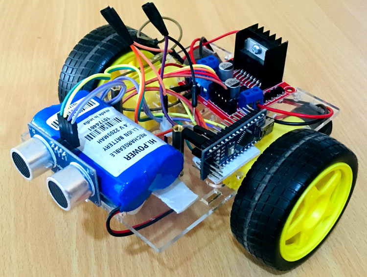 Arduino Based Obstacle Avoiding Robot Project with Code and