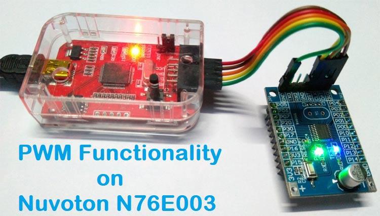 PWM Signal on Nuvoton N76E003 Microcontroller