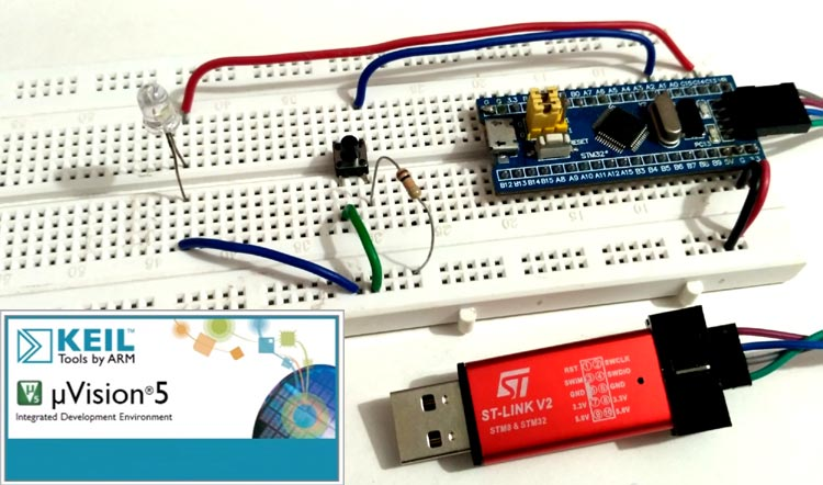 Programming STM32F103C8 using Keil uVision & STM32CubeMX
