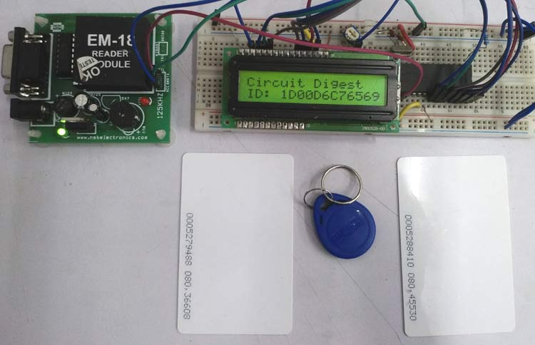 RFID Interfacing with PIC Microcontroller PIC16F877A