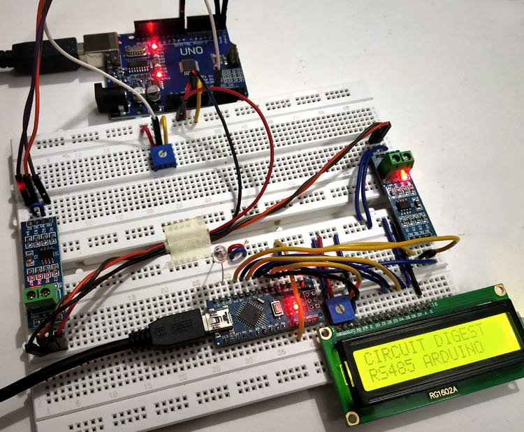 RS485 Serial Communication between Arduino Uno and Arduino Nano