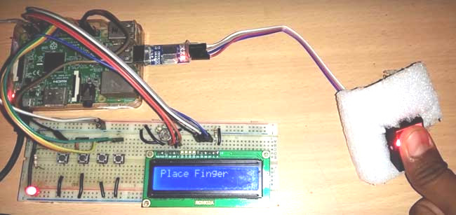 Raspberry Pi Fingerprint Sensor Interfacing Project with Code and