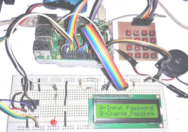 Raspberry Pi Digital Lock With User Defined Password