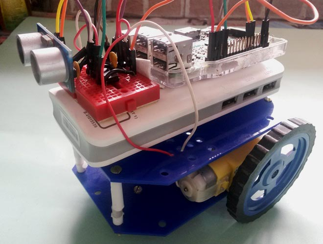 Raspberry Pi Obstacle Avoiding Robot using Ultrasonic Sensor