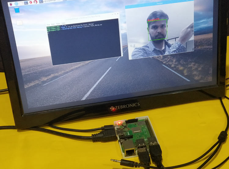 Real Time Face Recognition with Raspberry Pi and OpenCV