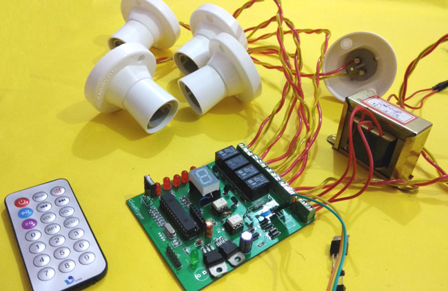 IR Remote Controlled Home Automation using PIC Microcontroller