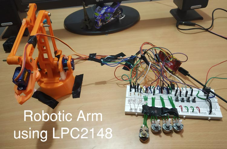 Pick and Place Robotic Arm using ARM7-LPC2148 ARM Microcontroller