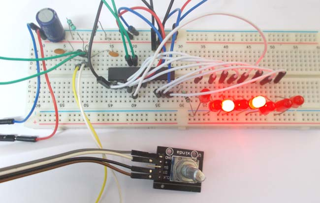 Rotary Encoder Interfacing with AVR Microcontroller (ATmega8)
