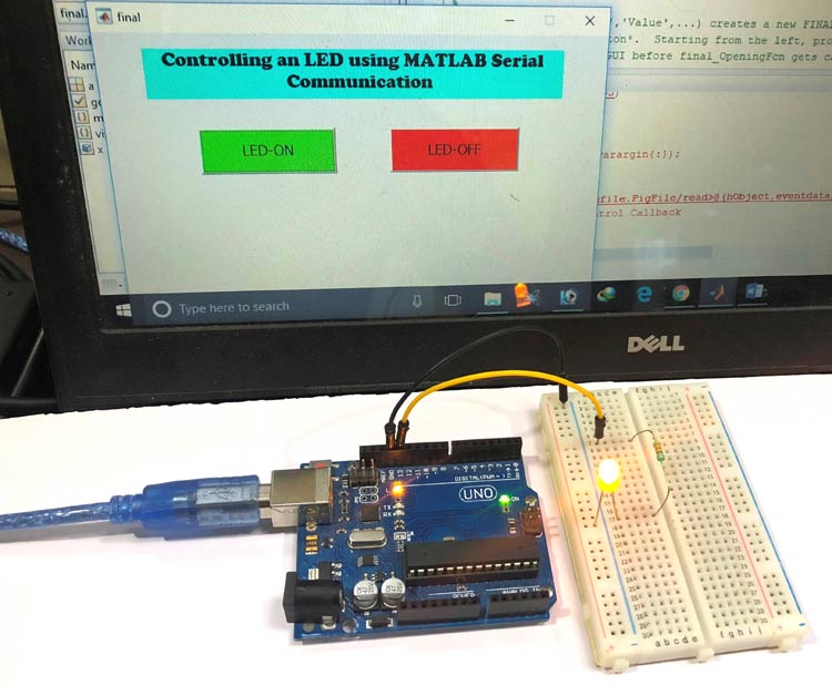 Serial Communication between MATLAB and Arduino