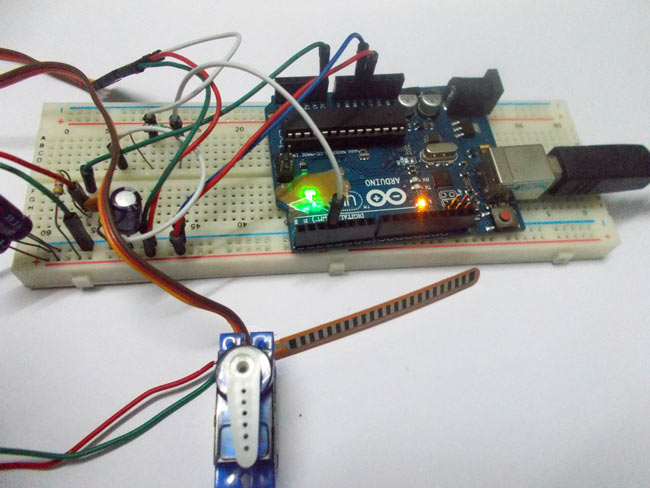 Servo motor control by flex sensor using arduino for How to control servo motor