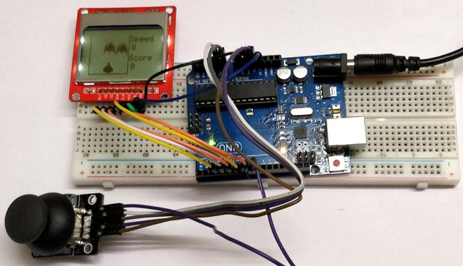 Space Race Game Using Arduino And Nokia 5110 Graphical Display