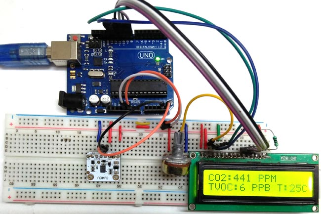 tvoc and co2 measurement using arduino and ccs811 air quality sensorIntegrated Ccs C Projects Circuits Electronics Projects Circuits #19