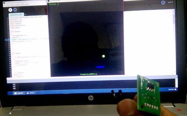 Ping Pong Game using Arduino and Accelerometer