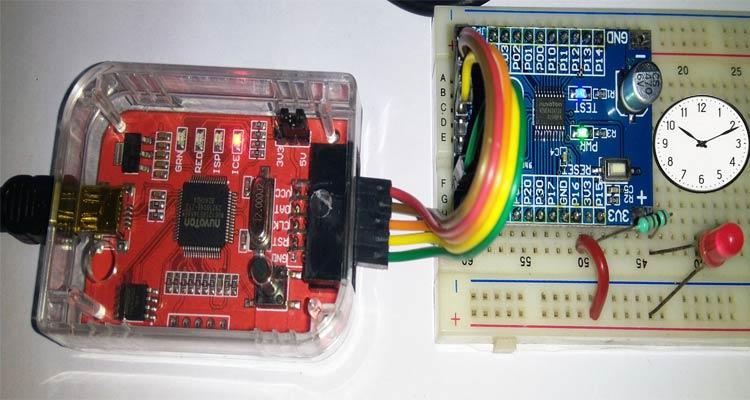 Timer Interfacing in Nuvoton N76E003 Microcontroller