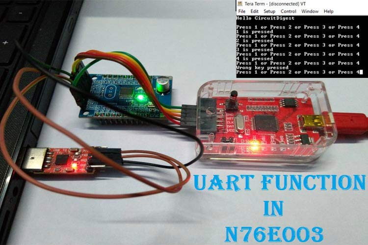 UART Communication with Nuvoton N76E003 Microcontroller