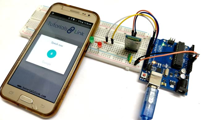 Arduino Based Voice Controlled LEDs using Bluetooth