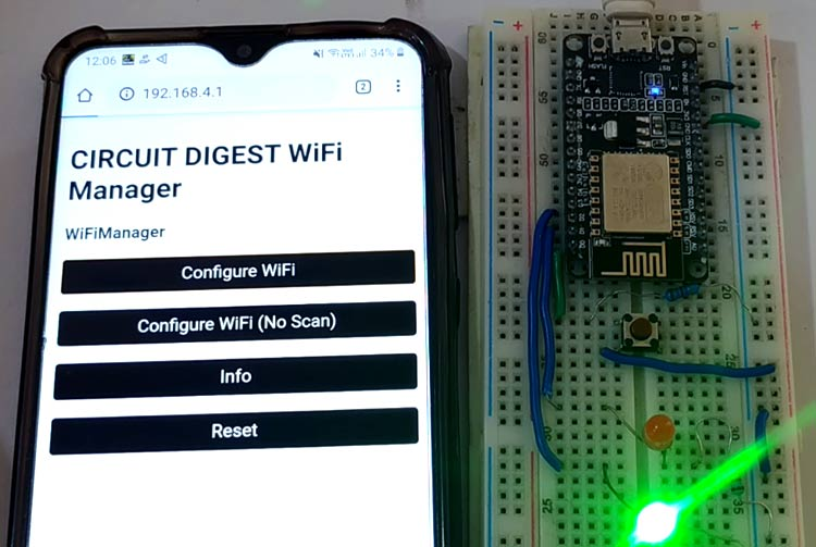 NodeMCU WiFi Manager to Scan and Connect to Wi-Fi Networks