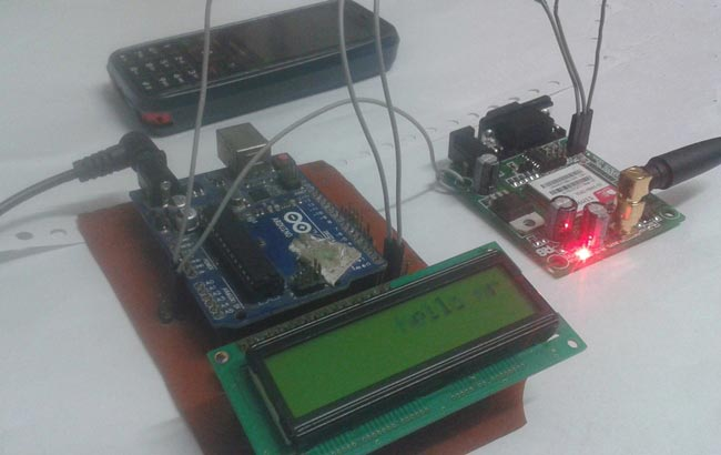 Wireless Notice Board Using GSM and Arduino