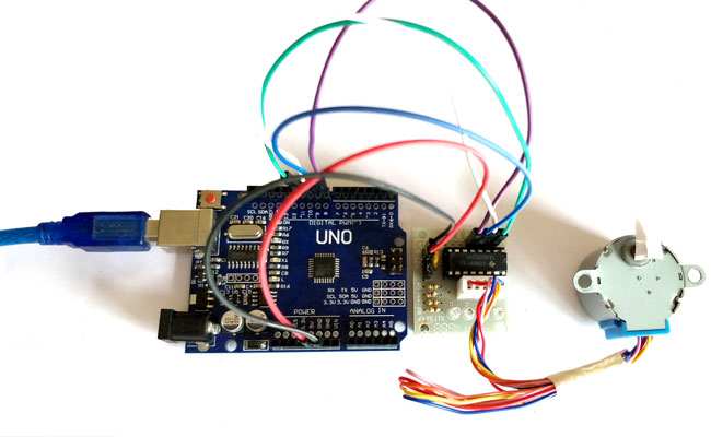Arduino stepper motor control tutorial with code and for Stepper motor position control