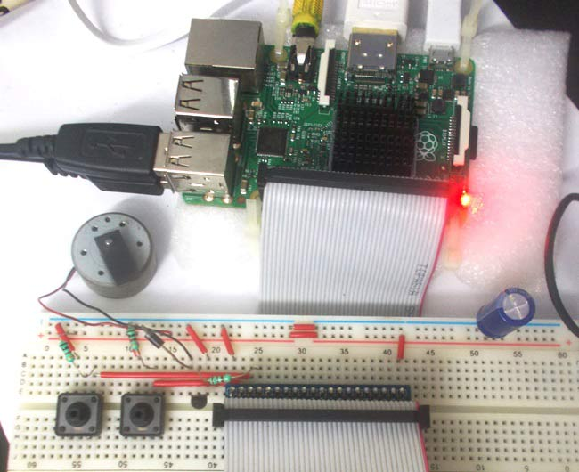 DC Motor Sd Control with Raspberry Pi on
