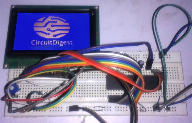 Graphic LCD Interfacing with 8051 Microcontroller: Circuit