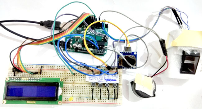 Fingerprint Based Attendance System Circuit Diagram | Fingerprint Attendance System Project Using Arduino Uno