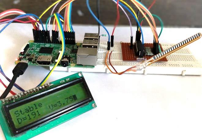 Interfacing Flex Sensor with Raspberry Pi using ADC0804