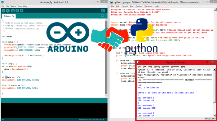 Using Python with Arduino- Controlling an LED