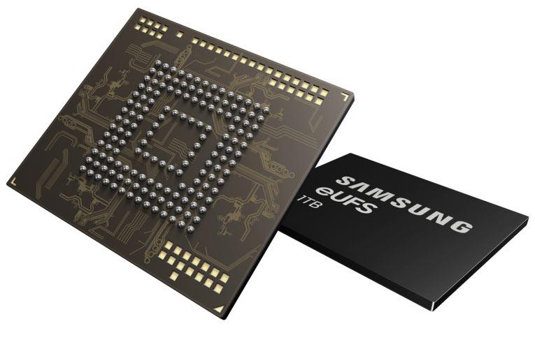 1TB embedded Universal Flash Storage (eUFS) from Samsung Electronics