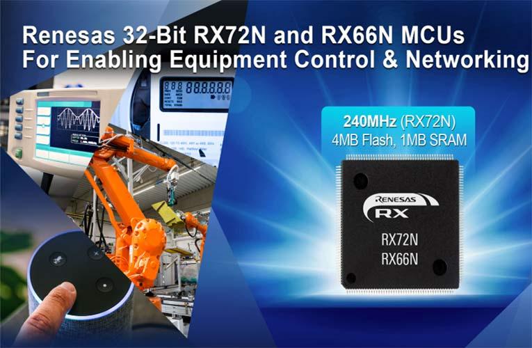 RX72N and RX66N 32-bit Microcontrollers