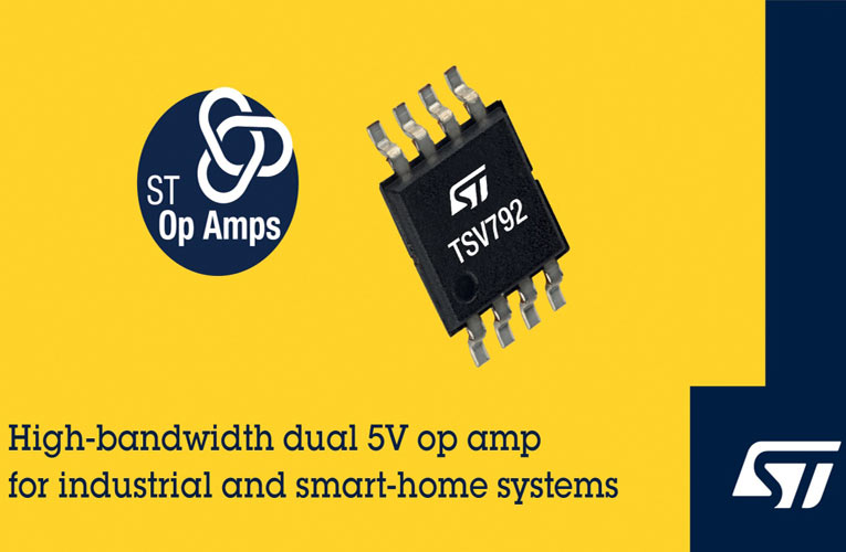 TSV792 50MHz Precision Operational Amplifier from STMicroelectronics