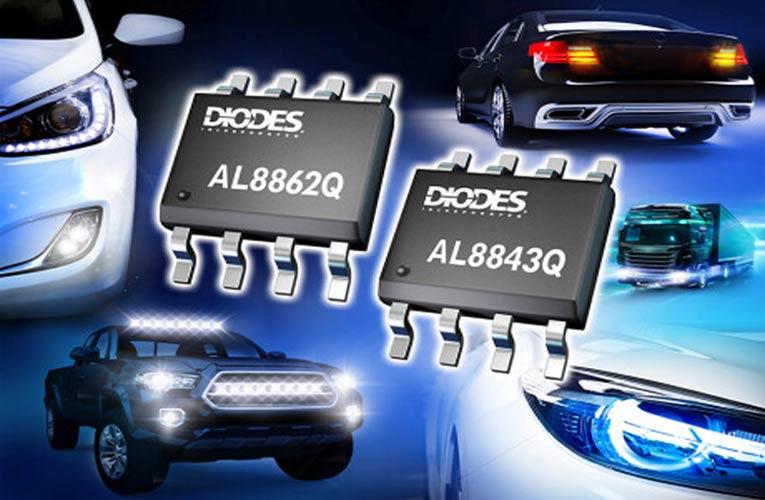 AL8843Q and AL8862Q Automotive Compliant Buck LED Drivers