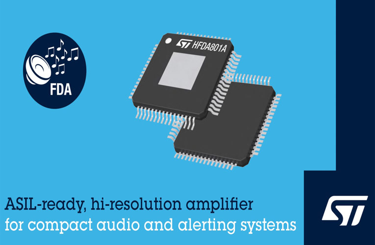 HFDA801A Class-D Automotive Audio Amplifier from STMicroelectronics