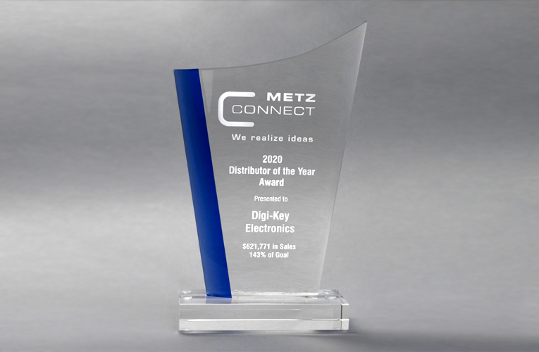 Digi-Key Electronics gets Distributor of the Year Award from METZ CONNECT