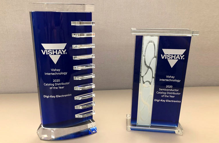 Digi-Key Electronics Honored with Vishay North America Catalog Distributor of the Year and Catalog Semiconductor Distributor of the Year Award