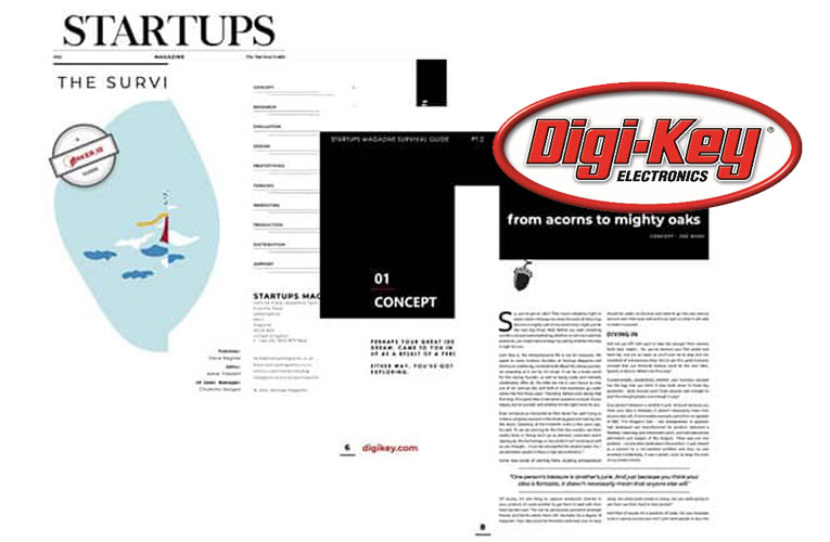 Digi-Key's Microsite and Survival Guide for Startups